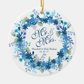 Ornamento floral personalizado do casamento | do