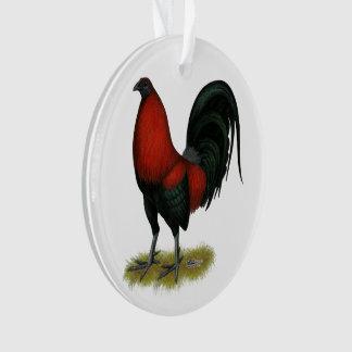 Ornamento Galo americano do vermelho do preto do BB do jogo