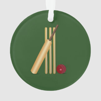 Ornamento Grilo - wicket, bastão e bola