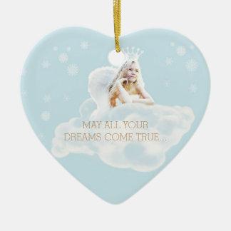 Ornamento ideal customizável do coração do anjo