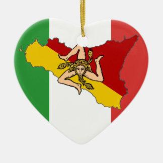 Ornamento italiano de Sicília da bandeira