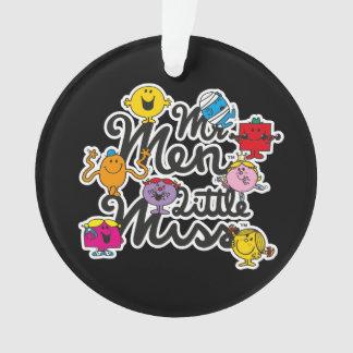 Ornamento Logotipo do grupo do Sr. Homem Pequeno senhorita |
