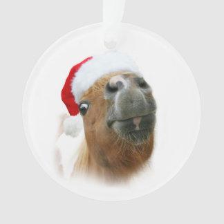 Ornamento Natal engraçado do cavalo