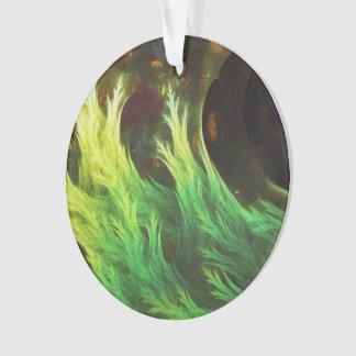 Ornamento O DeepDream de uma alga de cores desvanecidas da