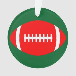 Ornamento O Natal vermelho & verde colore o Natal do futebol
