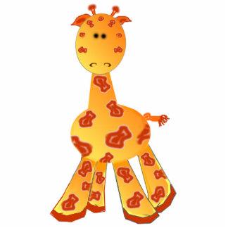 Ornamento ou escultura do girafa dos desenhos anim escultura foto