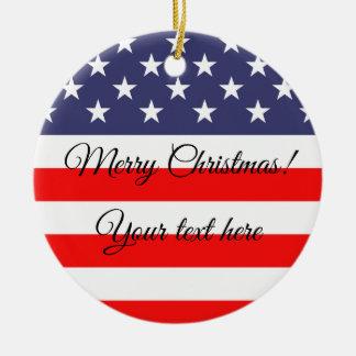 Ornamento patriótico da árvore de Natal da