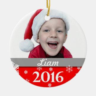 Ornamento personalizado 2016 da árvore de Natal da