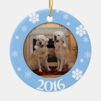 Ornamento personalizado da árvore de Natal da foto