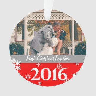 Ornamento personalizado da foto do Natal