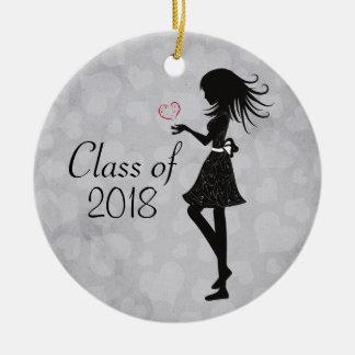 Ornamento personalizado da graduação da menina da