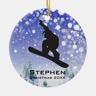 Ornamento personalizado da snowboarding
