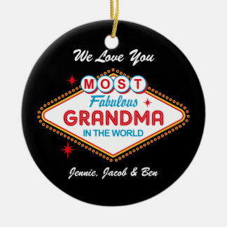 Ornamento personalizado de Las Vegas avó fabulosa