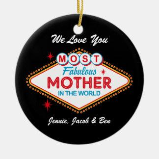 Ornamento personalizado de Las Vegas mamã fabulosa
