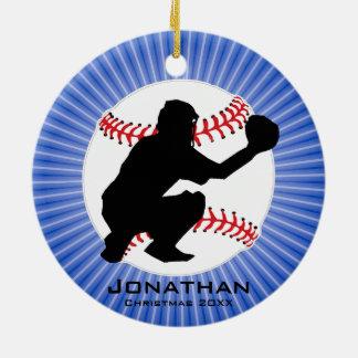 Ornamento personalizado do basebol (coletor)