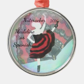 Ornamento personalizado do Nutcracker - espanhol