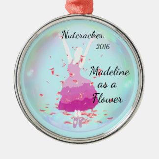 Ornamento personalizado do Nutcracker - flor