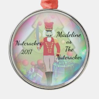 Ornamento personalizado do Nutcracker - o