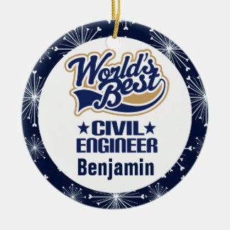 Ornamento personalizado do presente do engenheiro
