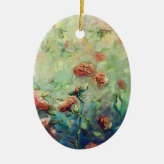 Ornamento pintado dos rosas