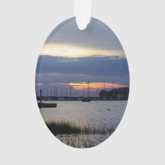Ornamento Por do sol no porto do insensatez