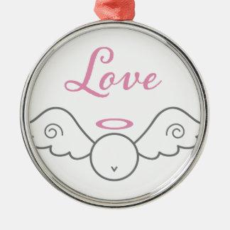 Ornamento redondo do anjo do amor