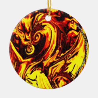 Ornamento redondo do espírito do fogo