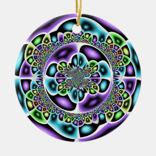 Ornamento roxo do abstrato do verde azul
