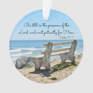 Ornamento Seja ainda na presença do senhor, 37:7 do salmo