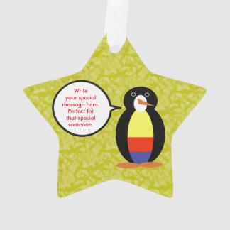 Ornamento Sr. colombiano Pinguim do feriado