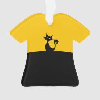 Ornamento traseiro da camisa do gato