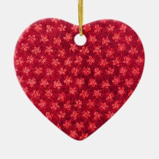 Ornamento vermelho do coração das violetas do fogo