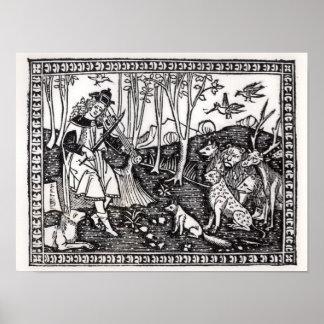 Orpheus que joga aos animais, 1500 poster