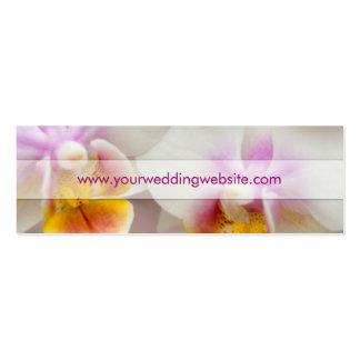 Orquídea • Cartão de visita do Web site do casamen