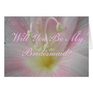 Orquídea rosa pálido você será meu pedido da dama cartão comemorativo