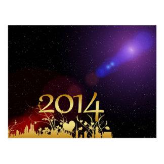 Os 2014 anos novos cartão postal
