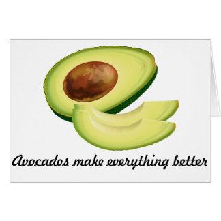Os abacates fazem a tudo o melhor cartão
