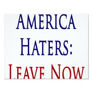 Os aborrecedores de América saem agora Convites Personalizados