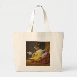 Os amantes de livro nunca vão para a cama apenas - sacola tote jumbo