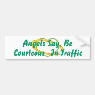 Os anjos dizem sejam corteses Tráfego-Personalizam Adesivo Para Carro