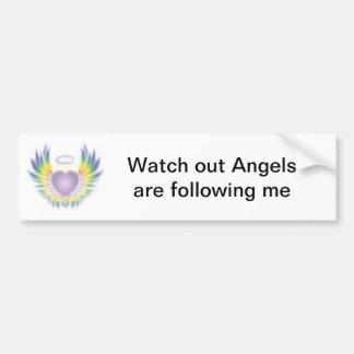 Os anjos estão seguindo-me autocolante no vidro tr adesivo para carro