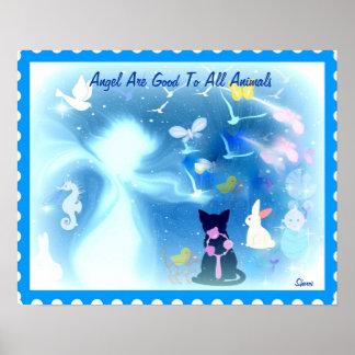 Os anjos são bons a todo o poster dos animais…