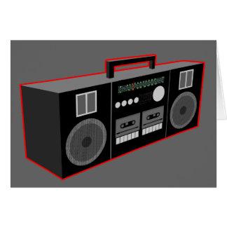 os anos 80 Boombox Cartão Comemorativo