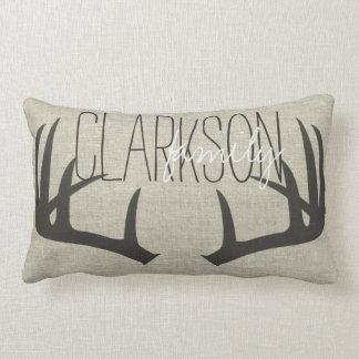 Os Antlers dos cervos personalizaram o travesseiro Almofada Lombar
