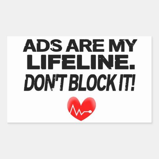 Os anúncios são cordas de salvamento adesivo retangular