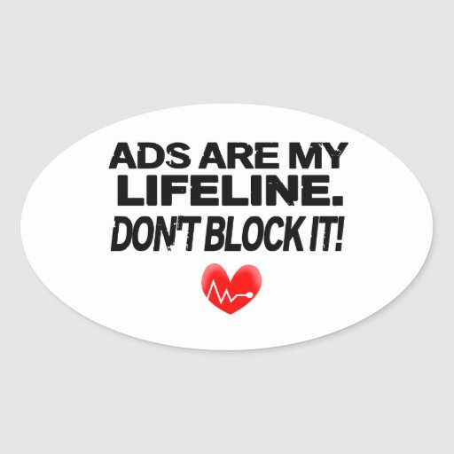 Os anúncios são cordas de salvamento adesivos oval