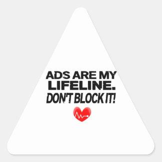 Os anúncios são cordas de salvamento