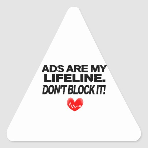 Os anúncios são cordas de salvamento adesivos triângulo