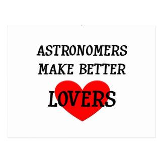 Os astrónomos fazem melhores amantes cartão postal