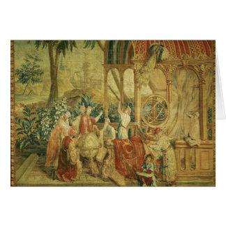 Os astrónomos, tecidos em Beauvais Cartão Comemorativo